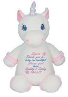 Personalised Cubbies Unicorn White